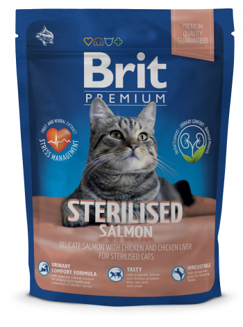 Купить Premium Cat Sterilised SALMON с лососем для кастрир.котов 1,5кг в Минске