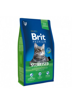 Premium Cat Sterilised курица и печень для кастрир.котов 1,5кг