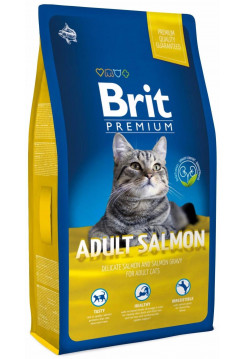 Premium Cat  Adult Salmon д/взр. кошек с лососем в соусе 8кг