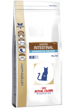 Gastro-Intestinal ModerateFeline 0,4кг,диета д/кош